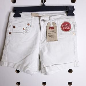 NEW Levis High Rise Shorty Shorts